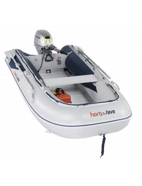 Barca pneumatica cu podina din aluminiu Honda Honwave T30-AE2, 2.97 metri