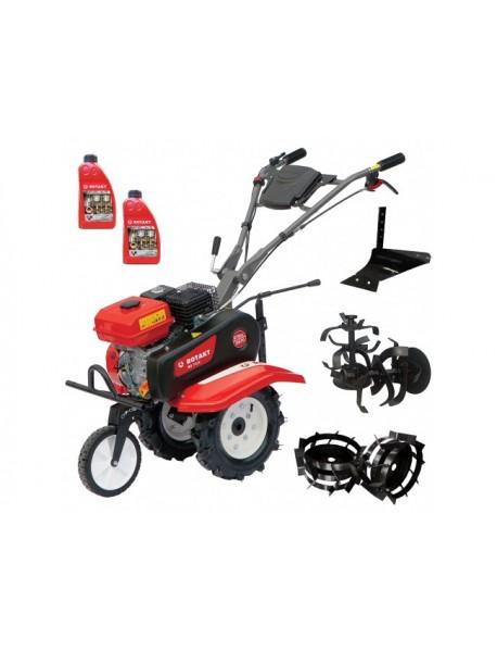 Pachetul CAMARAD - Motocultor RO75R, 7 CP, Plug arat, Roti metalice, 2L ulei