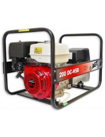 Generator de curent si sudura WAGT 200 DC HSB 4KVA cu motor honda GX390