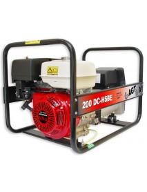 Generator de curent si sudura WAGT 200 DC HSBE 4KVA cu pornire elctrica si motor honda GX390