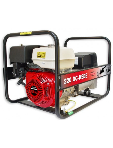 Generator de curent si sudura WAGT 220 DC HSBE 6,5KVA cu motor honda GX390 si pornire electrica