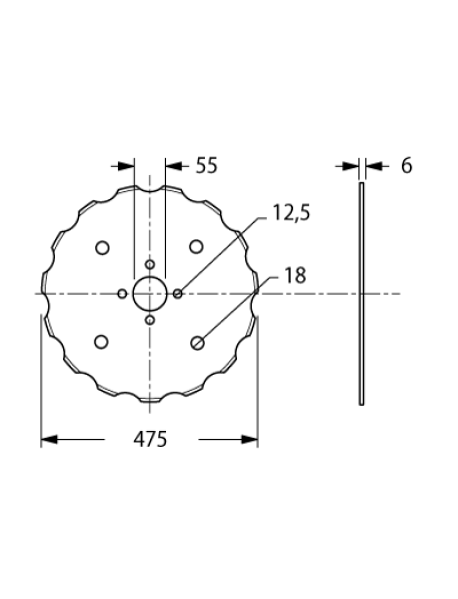 Taler Disc stelat Gaspardo