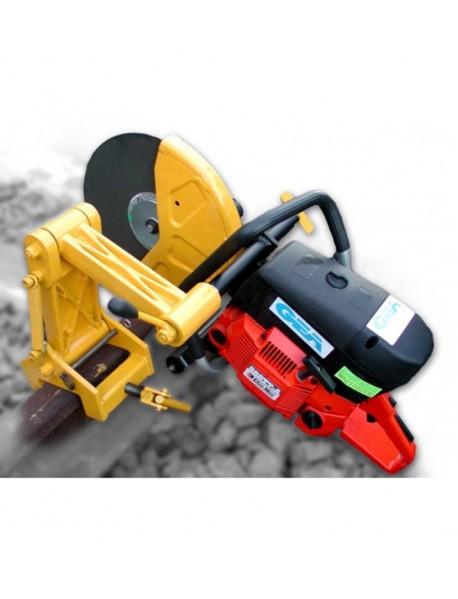 Motodebitator sina cale ferata, putere: 5 HP - 3.7 kW, capacitate cilindrică: 80.7 cm³, diametrul discului de tăiere: 350 mm
