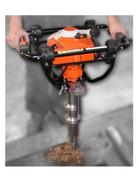 Motoburghiu traversa lemn, motor 2 timpi 1,3kw/1,8hp, sistem reglare al adincimii de gaurire