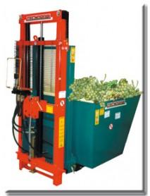 Container din otel inoxidabil hidraulic basculabil pentru stivuitor de tractor si motositvuitor ,volum 840 litri