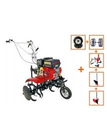 Motocultor Loncin LC750 Eco 7CP cu roti 4.00-8 +plug +rarita + prasitoare +roti metalice