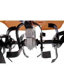 Motocultor O-Mac NEW 750-S 7CP cu roti 4.00-8 +plug +rarita +prasitoare + roti metalice