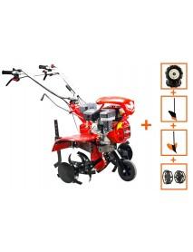 Motocultor Loncin LC850 7CP cu roti 4.00-8 +plug +rarita +prasitoare +roti metalice