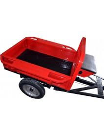 Remorca ROTAKT REM400, capacitate incarcare: 400 kg, suspensie foi de arc, greutate: 107 kg, sistem de basculare, frana mecanica pe tambur