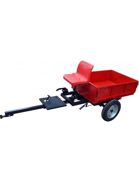Remorca ROTAKT REM450, capacitate de maxim 450-500 kg, greutate: 90 kg, sistem de basculare, frana mecanica pe tambur, frana de picior, frana de mana