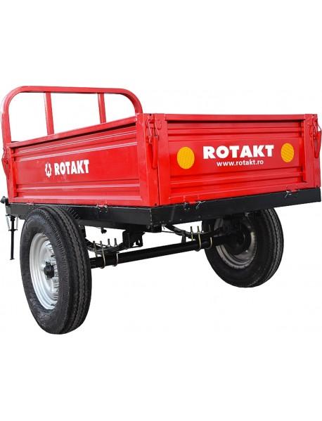 Remorca ROTAKT REM500, greutate: 150 kg, frana mecanica pe tambur, frana de picior, sistem de basculare, capacitate incarcaremaxim 500 kg